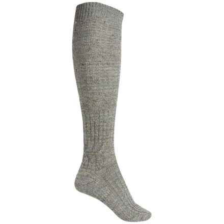 SmartWool Wheat Fields Knee-High Socks - Merino Wool, Over the Calf (For Women) in Medium Gray Heather - Closeouts