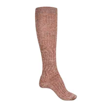 SmartWool Wheat Fields Knee-High Socks - Merino Wool, Over the Calf (For Women) in Moab Rust Heather - Closeouts