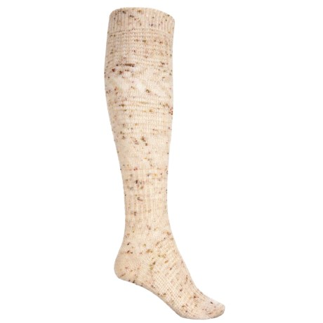 SmartWool Wheat Fields Knee-High Socks - Merino Wool, Over the Calf (For Women) in Natural Heather