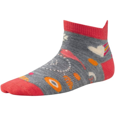 SmartWool Whimsy Charm Micro Socks - Merino Wool (For Kids) in Light Grey Heather