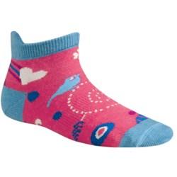 SmartWool Whimsy Charm Micro Socks - Merino Wool (For Kids) in Punch