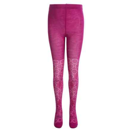 SmartWool Whirligig Tights - Merino Wool (For Little and Big Girls) in Berry - Closeouts