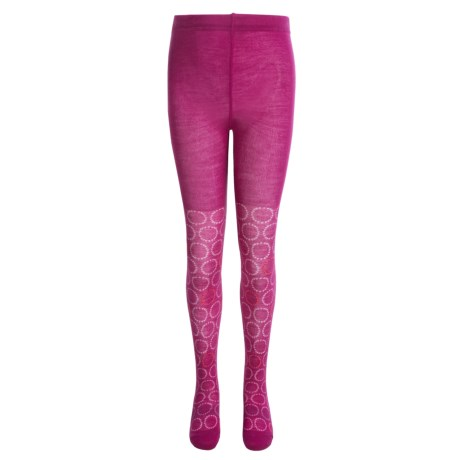 SmartWool Whirligig Tights - Merino Wool (For Little and Big Girls) in Berry