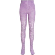 SmartWool Whirligig Tights - Merino Wool (For Little and Big Girls) in Lilac Heather - Closeouts