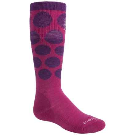 SmartWool Wintersport Allover Dots Socks - Merino Wool, Over the Calf (For Big Kids) in Berry/Purple - Closeouts