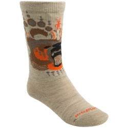 SmartWool Wintersport Bear Ski Socks - Merino Wool, Over-the-Calf (For Kids and Youth) in Oatmeal
