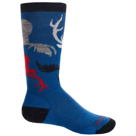 SmartWool Wintersport Camo Socks - Merino Wool, Over The Calf (For Big Boys) in Bright Blue - 2nds