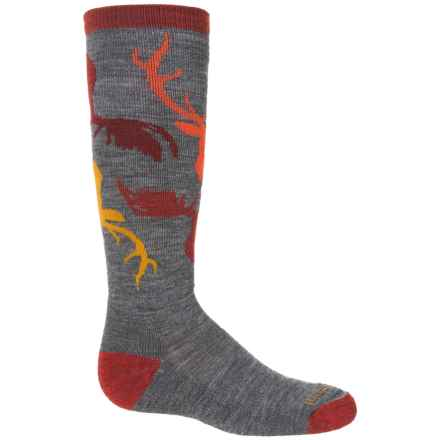 SmartWool Wintersport Camo Socks - Merino Wool, Over The Calf (For Big Boys) in Medium Gray - 2nds