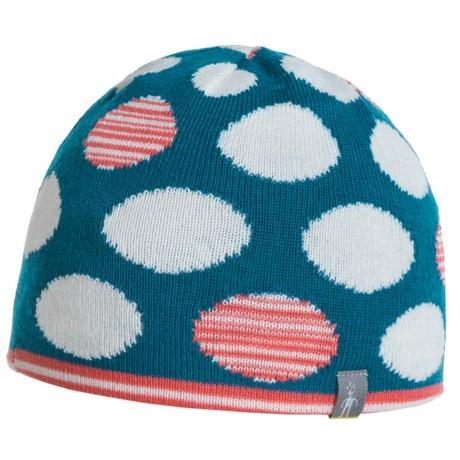 SmartWool Wintersport Dot Hat - Merino Wool, Reversible (For Boys) in Glacial Blue
