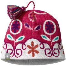 SmartWool Wintersport Flower Hat (For Girls) in Punch - 2nds