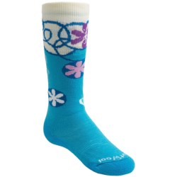 SmartWool Wintersport Flower Patch Socks - Merino Wool (For Kids and Youth) in Horizon Blue
