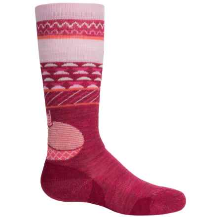 SmartWool Wintersport Fox Socks - Merino Wool, Over the Calf (For Little and Big Kids) in Dark Berry - Closeouts