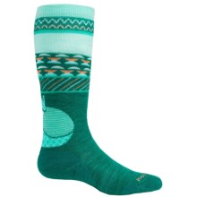 SmartWool Wintersport Fox Socks - Merino Wool,  Over the Calf (For Little and Big Kids) in Dark Spearmint - 2nds