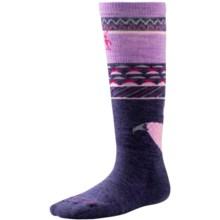 SmartWool Wintersport Fox Socks - Merino Wool,  Over the Calf (For Little and Big Kids) in Desert Purple - 2nds