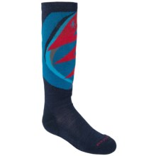 SmartWool Wintersport Lightning Bolt Socks - Merino Wool, Midweight, Over-the-Calf (For Kids) in Navy - 2nds