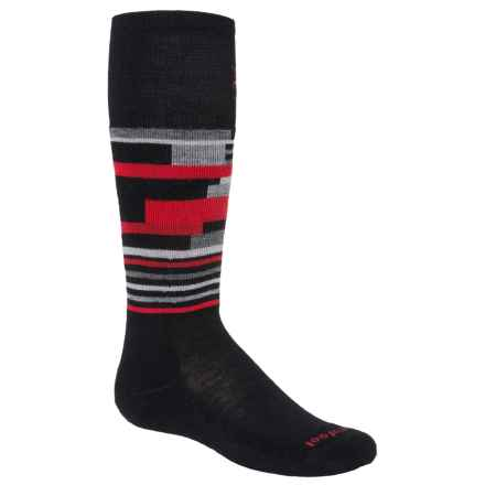 SmartWool Wintersport Midweight Socks - Merino Wool, Over the Calf (For Little and Big Kids) in Black/Black - Closeouts