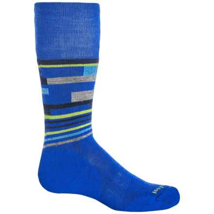 SmartWool Wintersport Midweight Socks - Merino Wool, Over the Calf (For Little and Big Kids) in Bright Blue - Closeouts