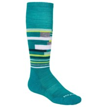 SmartWool Wintersport Midweight Socks - Merino Wool, Over the Calf (For Little and Big Kids) in Capri - Closeouts