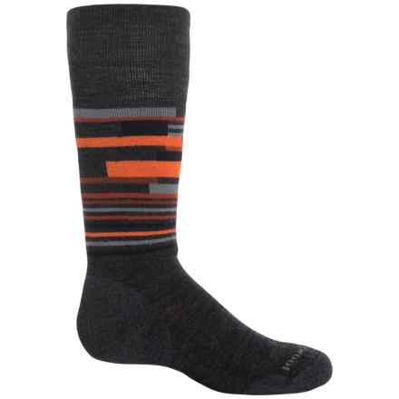 SmartWool Wintersport Midweight Socks - Merino Wool, Over the Calf (For Little and Big Kids) in Charcoal/Bright Orange - Closeouts