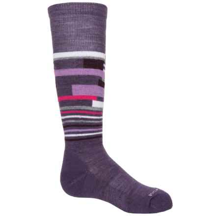 SmartWool Wintersport Midweight Socks - Merino Wool, Over the Calf (For Little and Big Kids) in Desert Purple - Closeouts