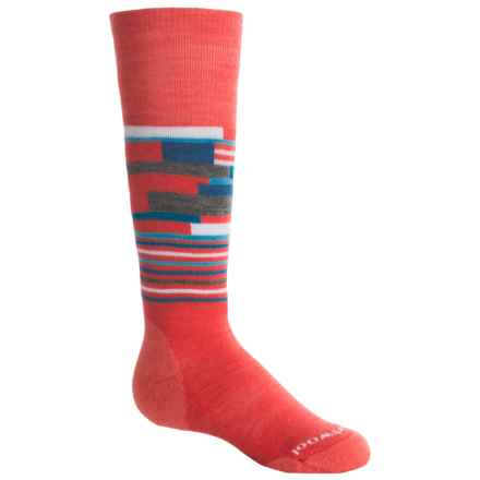 SmartWool Wintersport Midweight Socks - Merino Wool, Over the Calf (For Little and Big Kids) in Hibiscus - Closeouts