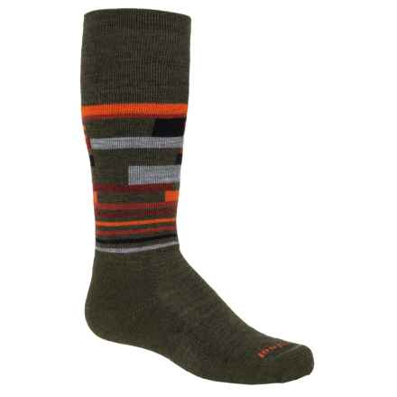SmartWool Wintersport Midweight Socks - Merino Wool, Over the Calf (For Little and Big Kids) in Loden - Closeouts
