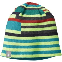 SmartWool Wintersport Reversible Beanie - Merino Wool (For Little and Big Kids) in Smartwool Green - Closeouts