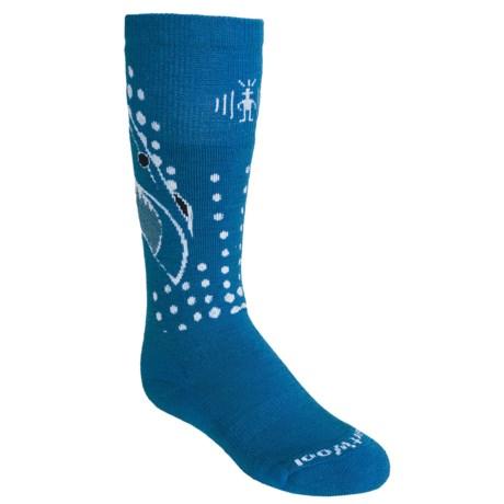 SmartWool Wintersport Shark Socks - Merino Wool (For Kids and Youth) in Graphite