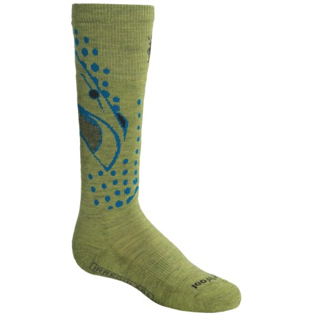 SmartWool Wintersport Shark Socks - Merino Wool (For Kids and Youth) in Pesto
