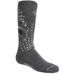 SmartWool Wintersport Shark Socks - Merino Wool (For Little and Big Kids) in Graphite