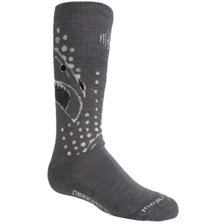 SmartWool Wintersport Shark Socks - Merino Wool (For Little and Big Kids) in Graphite
