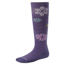 Smartwool Wintersport Snowflake Socks - Merino Wool, Over the Calf (For Kids and Youth) in Lavender - 2nds