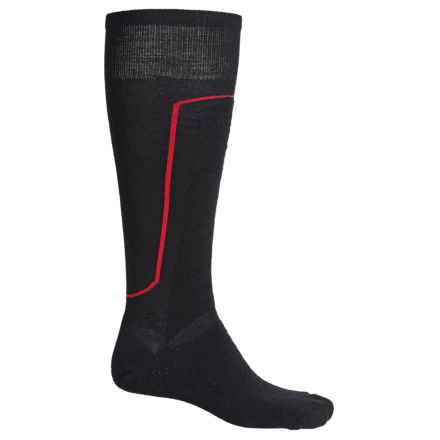 SmartWool Wintersport Socks - Merino Wool, Mid Calf (For Men and Women) in Black/Red - Closeouts