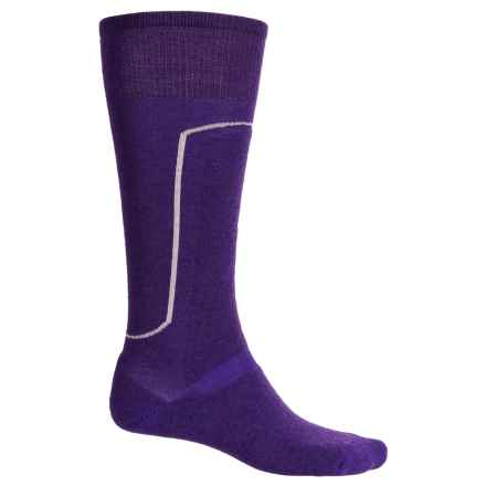 SmartWool Wintersport Socks - Merino Wool, Mid Calf (For Men and Women) in Grape/Silver - Closeouts