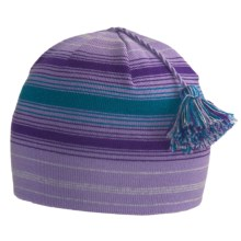 SmartWool Wintersport Stripe Beanie Hat - Merino Wool (For Kids) in Lavender - Closeouts