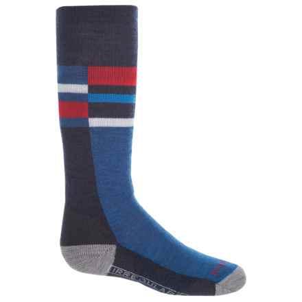 SmartWool Wintersport Stripe Socks - Merino Wool, Crew (For Little and Big Kids) in Navy - 2nds