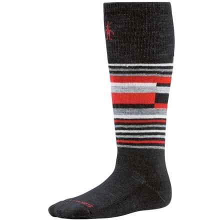 SmartWool Wintersport Stripe Socks - Merino Wool (For Kids) in Black/Black - 2nds