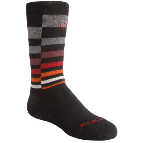 SmartWool Wintersport Stripe Socks - Merino Wool (For Kids) in Black/Gray
