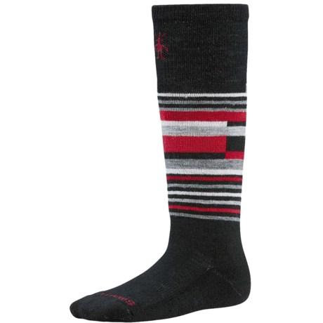 SmartWool Wintersport Stripe Socks - Merino Wool (For Kids) in Smartwool Green