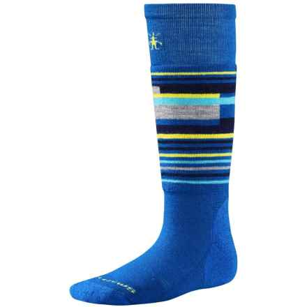 SmartWool Wintersport Stripe Socks - Merino Wool (For Kids) in Bright Blue - 2nds