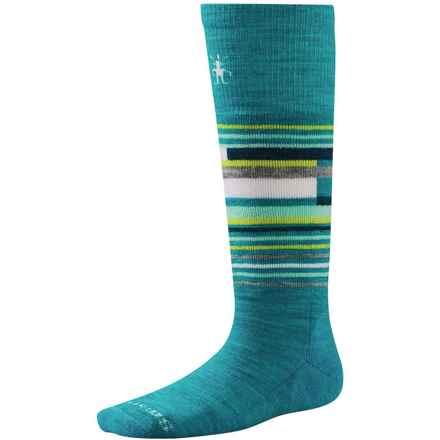 SmartWool Wintersport Stripe Socks - Merino Wool (For Kids) in Capri - 2nds