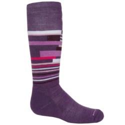 SmartWool Wintersport Stripe Socks - Merino Wool (For Kids) in Desert Purple