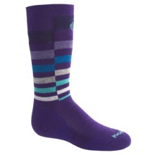SmartWool Wintersport Stripe Socks - Merino Wool (For Kids) in Grape - 2nds