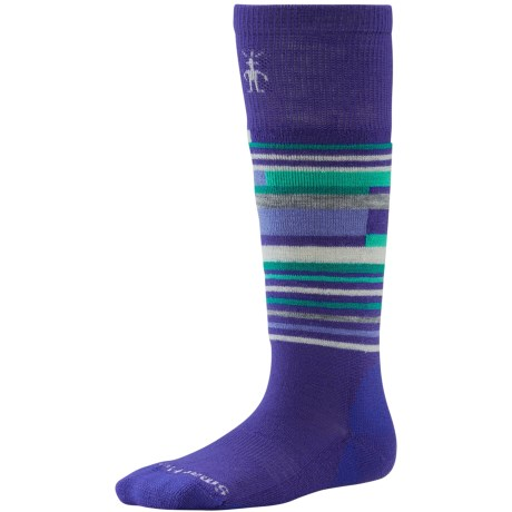 SmartWool Wintersport Stripe Socks - Merino Wool (For Kids) in Liberty
