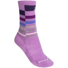 SmartWool Wintersport Stripe Socks - Merino Wool (For Kids) in Lilac - 2nds
