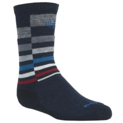 SmartWool Wintersport Stripe Socks - Merino Wool (For Kids) in Smartwool Green