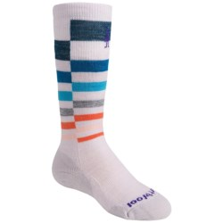 SmartWool Wintersport Stripe Socks - Merino Wool (For Kids) in Navy Offset Stripe
