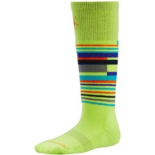 SmartWool Wintersport Stripe Socks - Merino Wool (For Kids) in Smartwool Green - 2nds