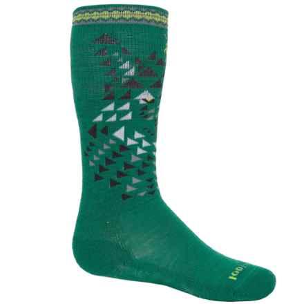 SmartWool Wintersport Wolf Socks - Merino Wool, Crew (For Little and Big Kids) in Alpine Green - 2nds