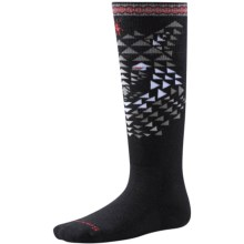 SmartWool Wintersport Wolf Socks - Merino Wool, Over the Calf (For Little and Big Kids) in Black - Closeouts